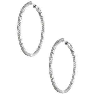 """Kenneth Jay Lane 2"""" CZ Inside Out Hoop Earrings"""